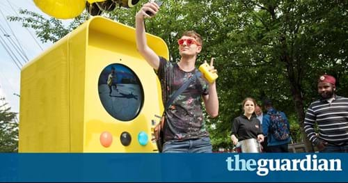 Snapchat Spectacles, as seen in The Guardian