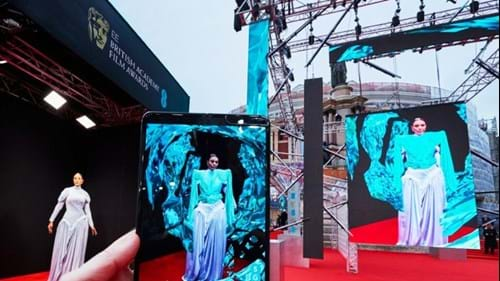 5G-powered augmented reality dress at the 2020 Bafta Awards (Image credit: EE)