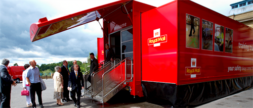 Royal Mail's roadshow trailer