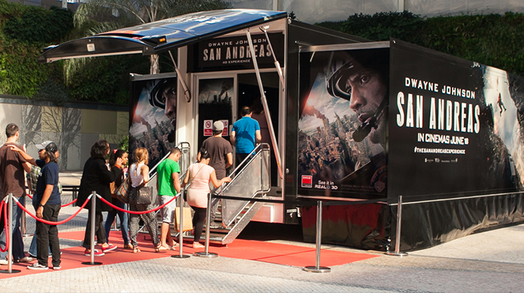 San Andreas roadshow trailer