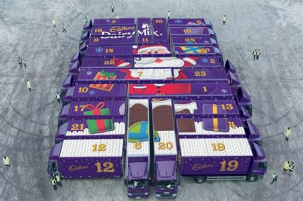 Cadbury truck marketing