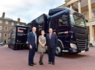Lord Price and Catherine Raines at the Export Hub